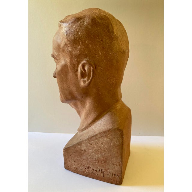 Vintage Terra Cotta Bust Signed Lillian Alperson For Sale In Los Angeles - Image 6 of 11
