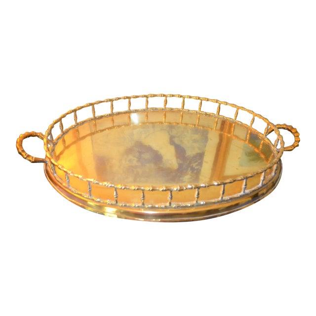 Hollywood Regency Brass Bamboo Tray - Image 1 of 6