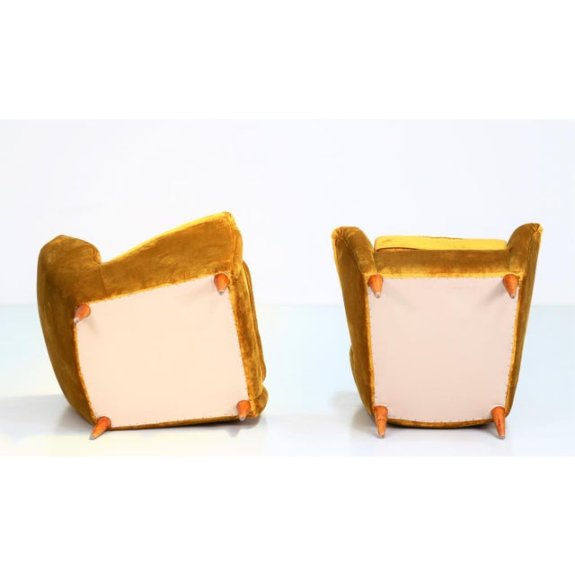Mid 20th Century Gio Ponti Pair of Armchairs 1940 for Isa Bergamo For Sale - Image 5 of 6