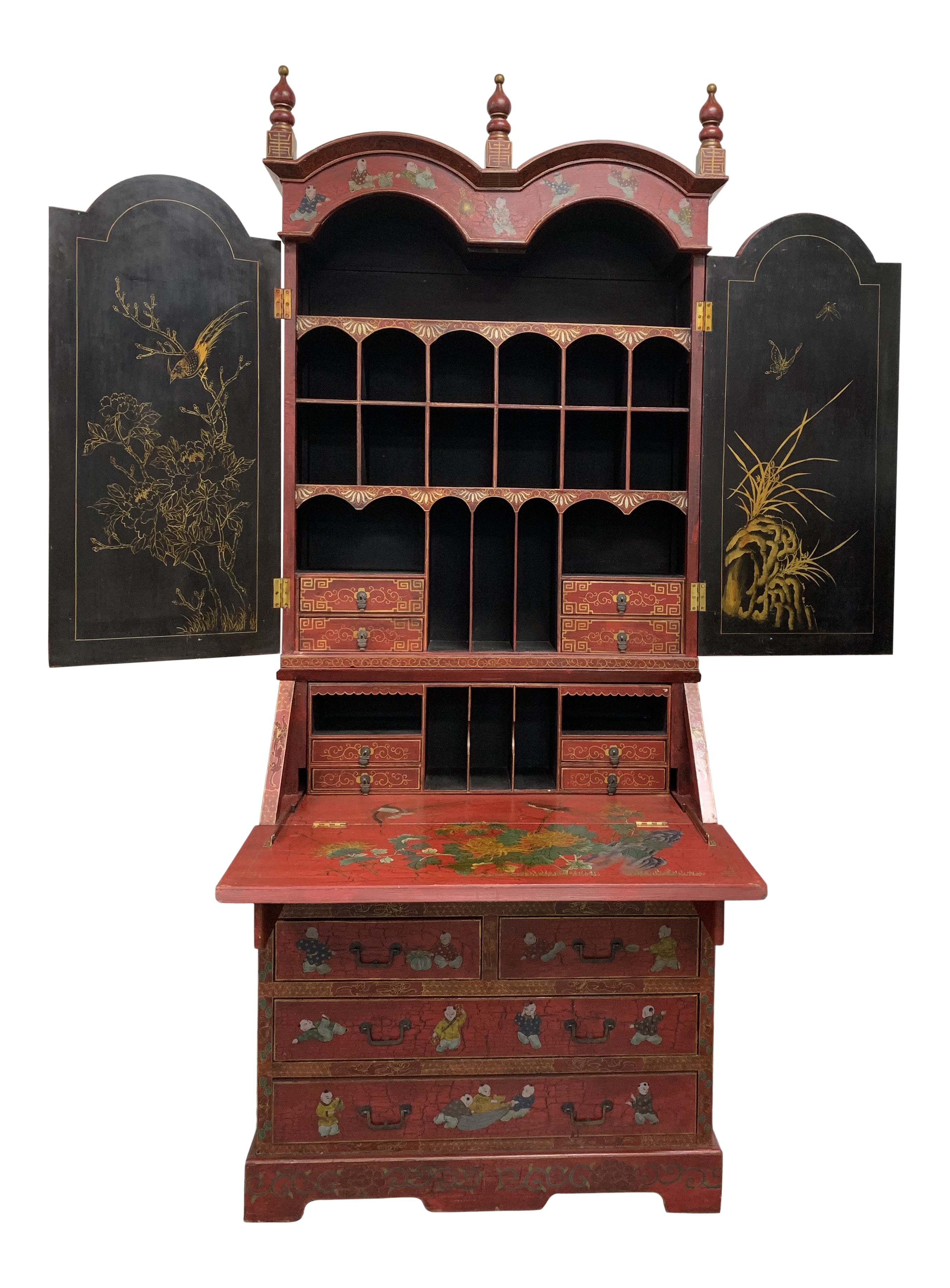 Other Antique Long Two Tier Shop Display Shelf C.1900.