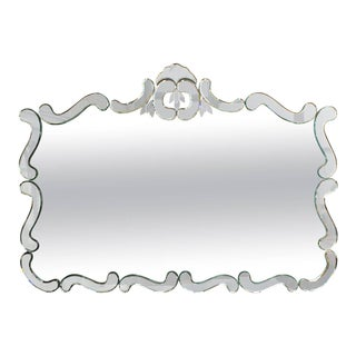 Large 1950's Venetian Style Wall Mirror