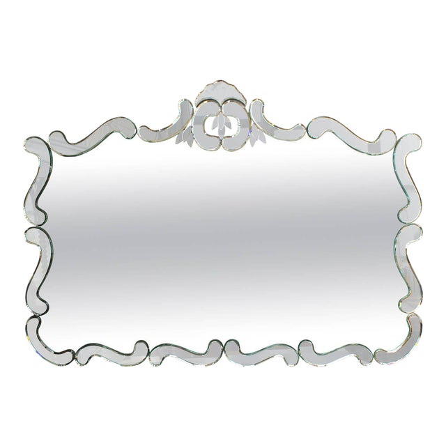 Large 1950's Venetian Style Wall Mirror For Sale