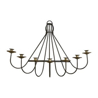 Mid Century Iron and Brass Wall Sconce