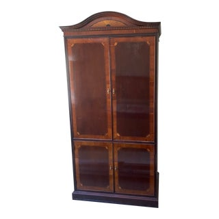 1990s Traditional Cherry Burlwood Armoire For Sale