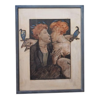 Decoupage/Painting by Jean Pierre Ceytaire For Sale