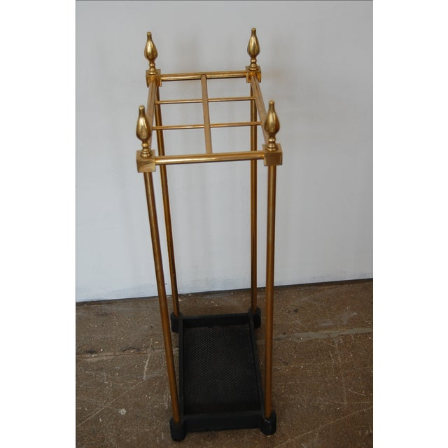 French Brass & Iron Umbrella Stand - Image 8 of 9