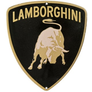 Vintage Enamel Lamborghini Auto Badge