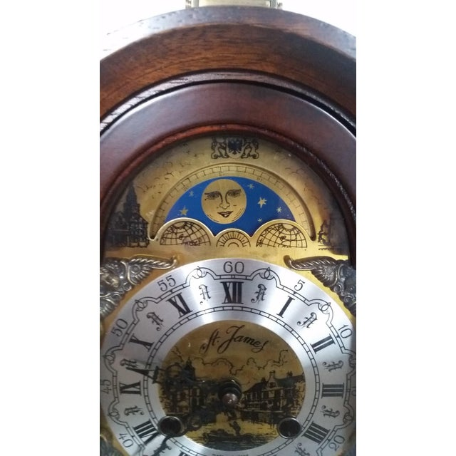 Vintage Franz Hermle Mantle Clock For Sale - Image 4 of 7