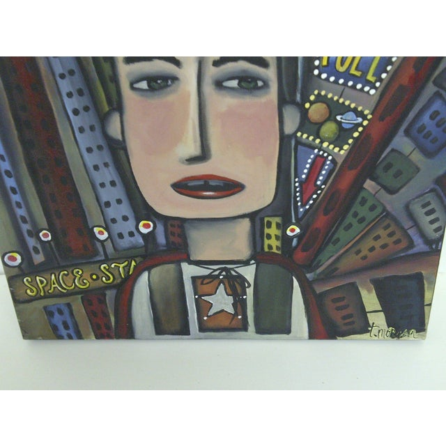 "Modern ""Graffiti"" Art by T. Morgan, Modern Painting For Sale - Image 3 of 6"