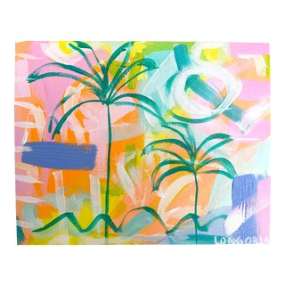 """Palms #11"" Abstract Painting by Christina Longoria For Sale"