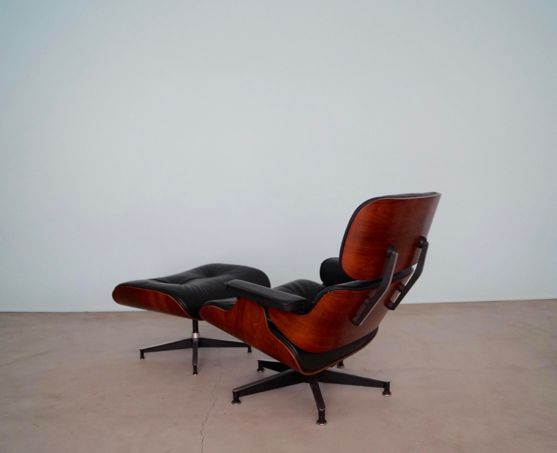 1960s Early Herman Miller Eames Lounge Chair U0026 Ottoman In Rosewood For Sale    Image 5