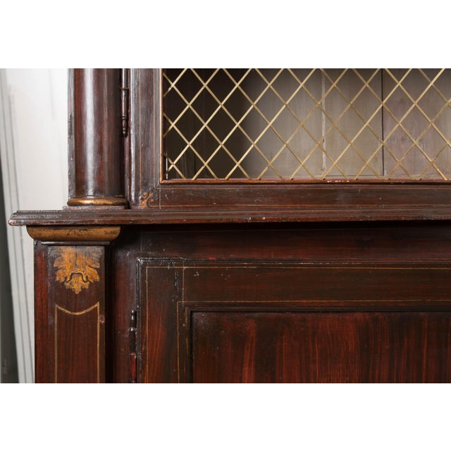 Metal 19th Century English Regency Library Bookcases - a Pair For Sale - Image 7 of 13