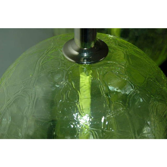 Vintage Murano Glass Ball Table Lamps Lime Green For Sale - Image 10 of 10