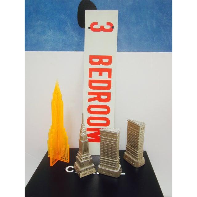 Vintage Bedroom Sign Metal Enamel Industrial - Image 5 of 6