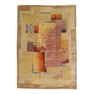 Vintage Modernist Rug - 8′6″ × 11′5″ For Sale