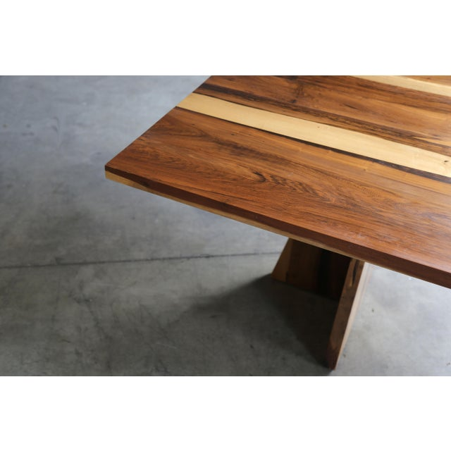 Costantini Solid Argentine Rosewood Twin Pedestal Luca Table For Sale - Image 4 of 8