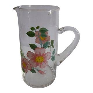 Vintage Franciscan Desert Rose Glass Large Pitcher