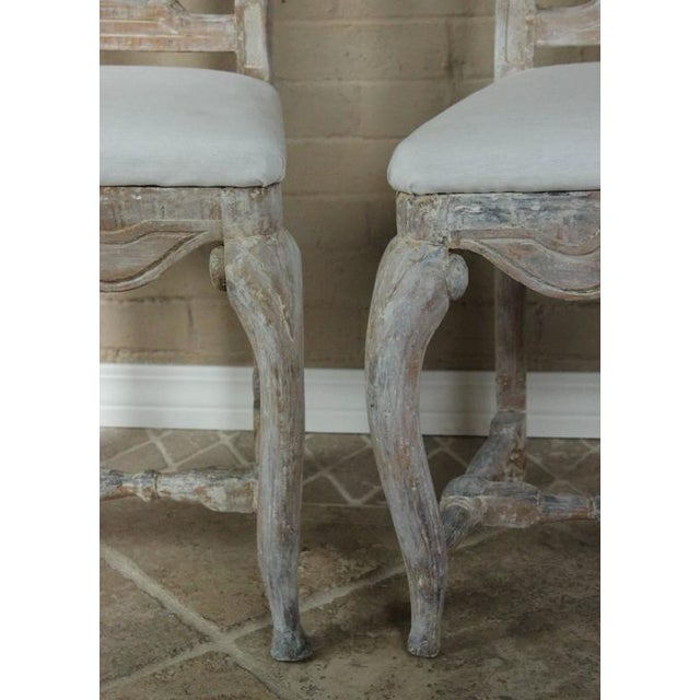 Mid 18th Century Pair of 18th Century Swedish Rococo Period Side Chairs For Sale - Image 5 of 11
