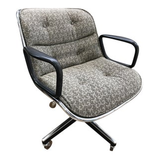 1980s Vintage Upholstered Original Knoll Office Chair For Sale
