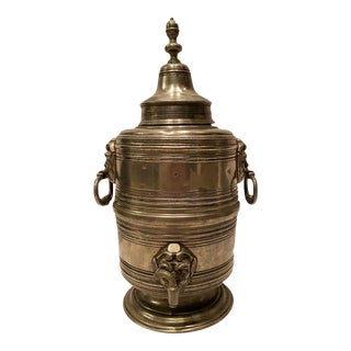 Antique 1820 German Block Zin Pewter Coffee Urn For Sale