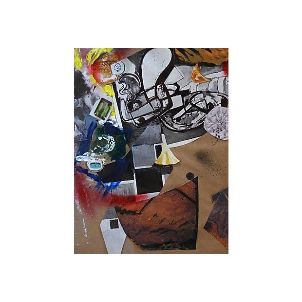 Abstract Modern Art Abstract Collage For Sale - Image 3 of 5