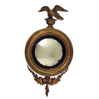 Early 19th Century Regency Carved and Giltwood Mirror For Sale