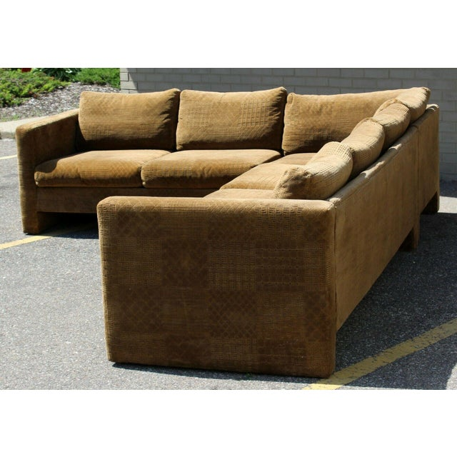 Selig Mid Century Modern Danish Selig 2 Piece Sectional For Sale - Image 4 of 8