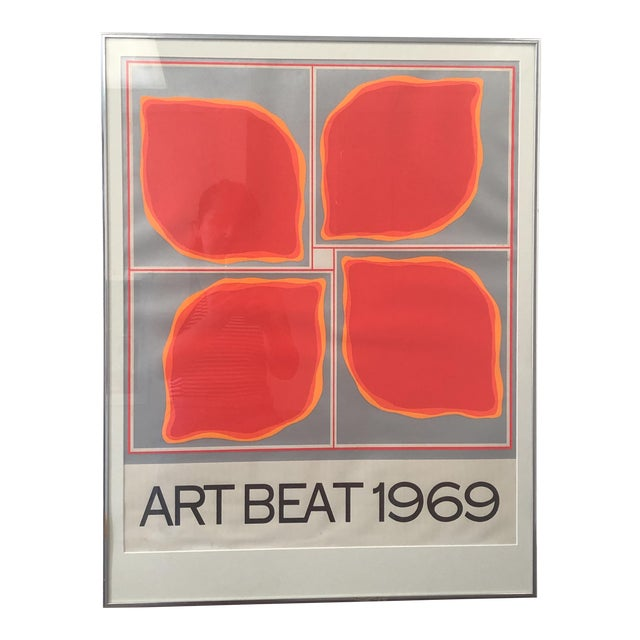 """Art Beat 1969"" Vintage Poster For Sale"