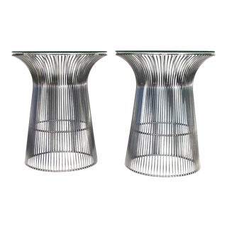 Knoll Platner Style Cylinder Tables -- A Pair