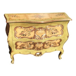 Italian Rococo Hand Painted Chest For Sale