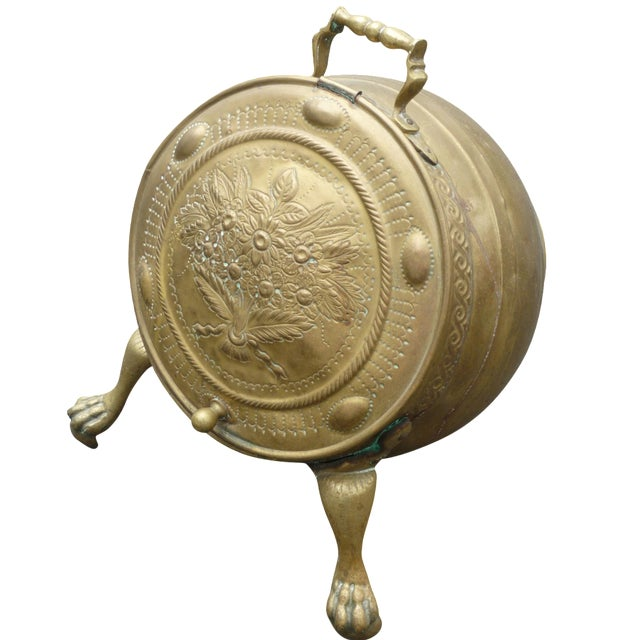 Antique Brass Coal Scuttle - Image 1 of 7
