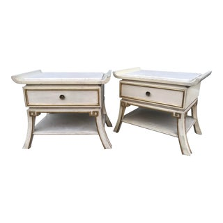 Vintage Mid-Century James Mont Hollywood Regency Style Nightstands - A Pair For Sale