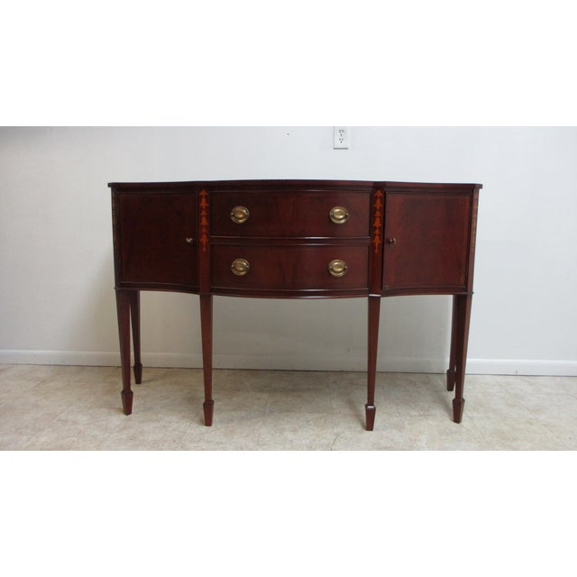 1990s Mahogany Federal Banded Sideboard For Sale - Image 13 of 13