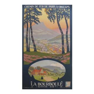 1933 French Travel Poster, La Bourboule, Paris to Orleans Railway For Sale