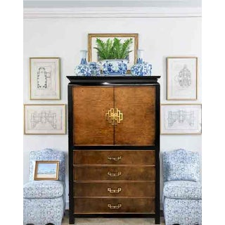 1960s Vintage Century Furniture Burl Wood Chinoiserie Armoire Preview
