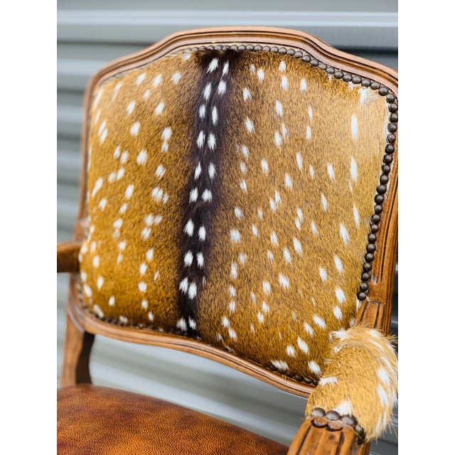 Modern Axis Deer Arm Chairs- a Pair For Sale - Image 4 of 13