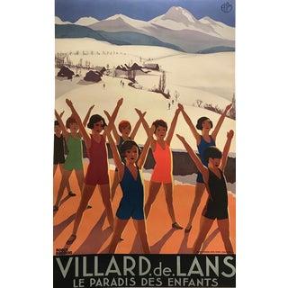 French 1935 Art Deco Roger Broders Travel Poster, Villard De Lans For Sale