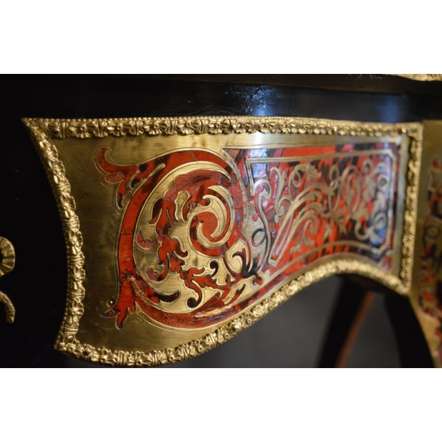Late 19th Century 19th Century Tortoise Shell Table With Boulle Marquetry For Sale - Image 5 of 13