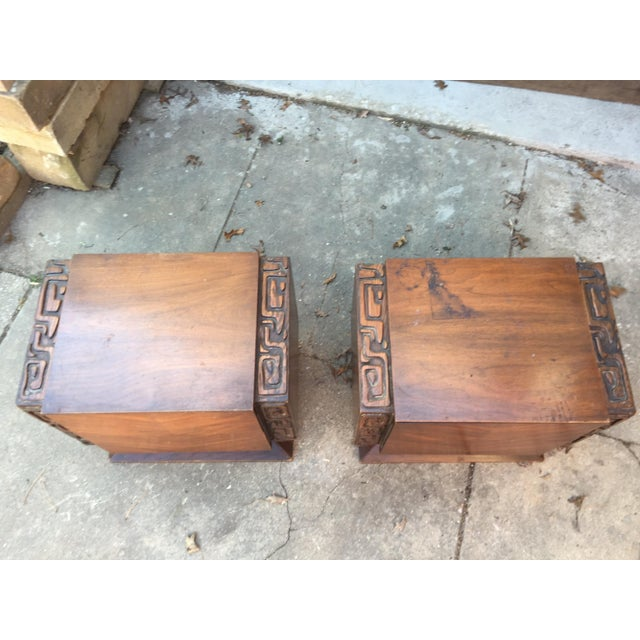 United Furniture Brutalist Side Tables - A Pair For Sale - Image 5 of 8