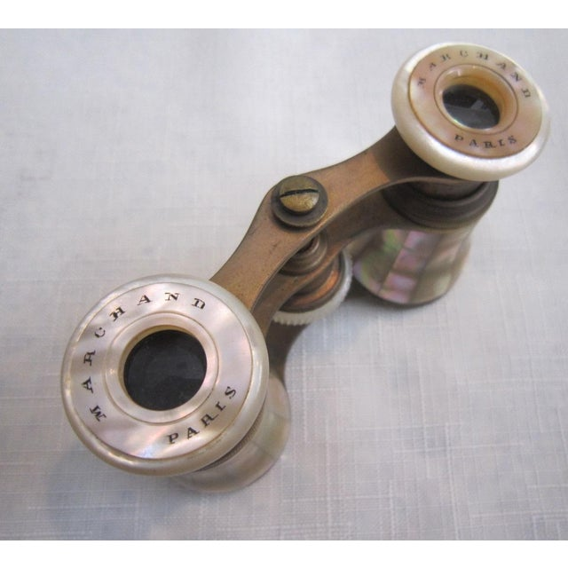 French Mother of Pearl Opera Binoculars - Image 5 of 6