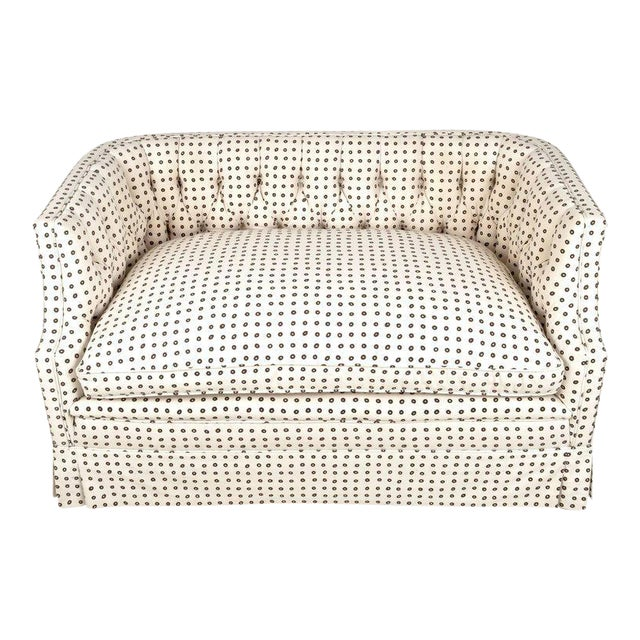 Vintage Tufted Back Loveseat - Image 1 of 9