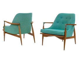 Image of Turquoise Lounge Chairs