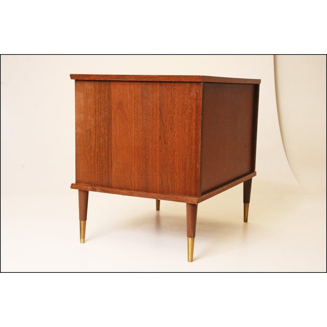 Mid-Century Modern Wood Record Cabinet - Image 8 of 11