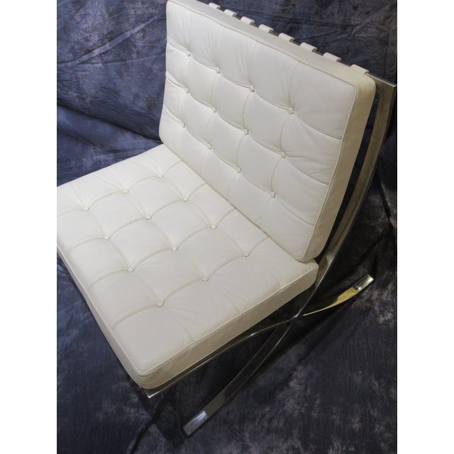 White Barcelona Chair For Sale - Image 8 of 13