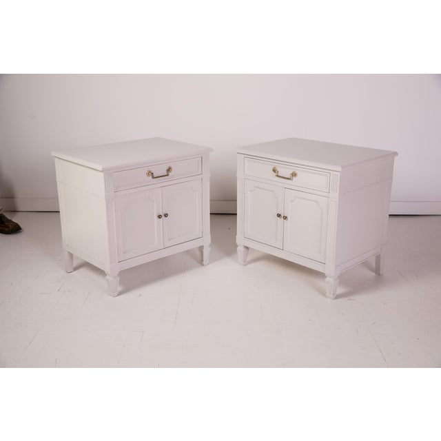 Mid-Century Modern Mid-Century Modern Baker Furniture Grey Nightstands - a Pair For Sale - Image 3 of 12