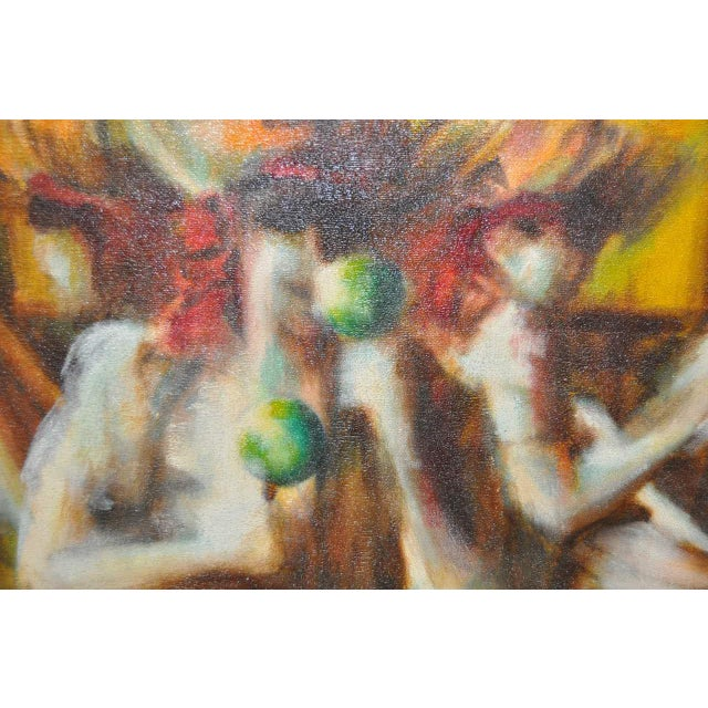C.1970 Caribbean Mood Oil Painting by Reuben - Image 7 of 8