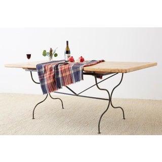 Italian Oak Farm Table With Iron Trestle Base Preview