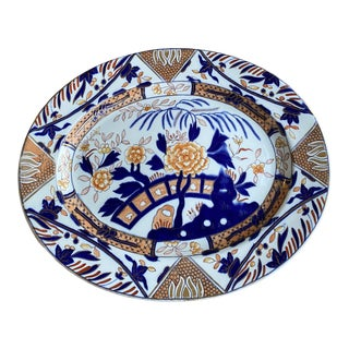 Antique Ashworth Ironstone China Platter For Sale