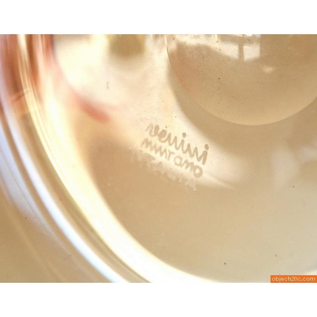 Orange Soffiati Vase/Vessel by Venini For Sale - Image 5 of 5