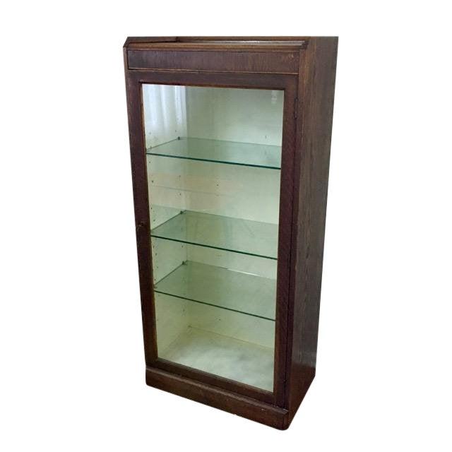 Antique Oak Medical Cabinet For Sale